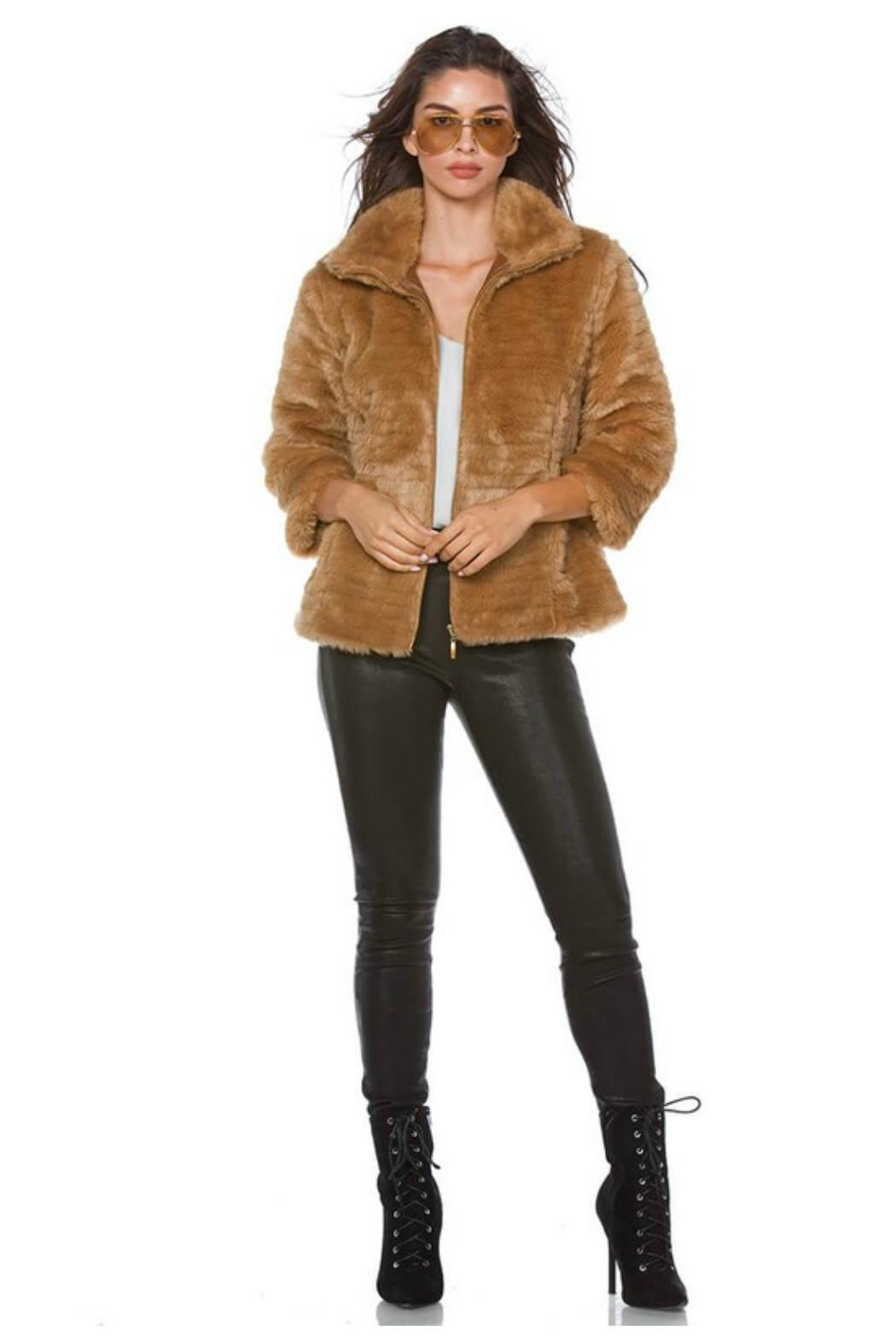 Towne Fitted Fur Jacket - Side Cropped Image