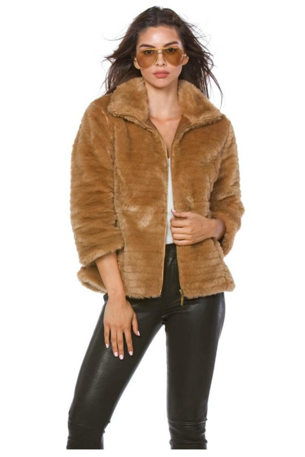 Towne Fitted Fur Jacket - Main Image