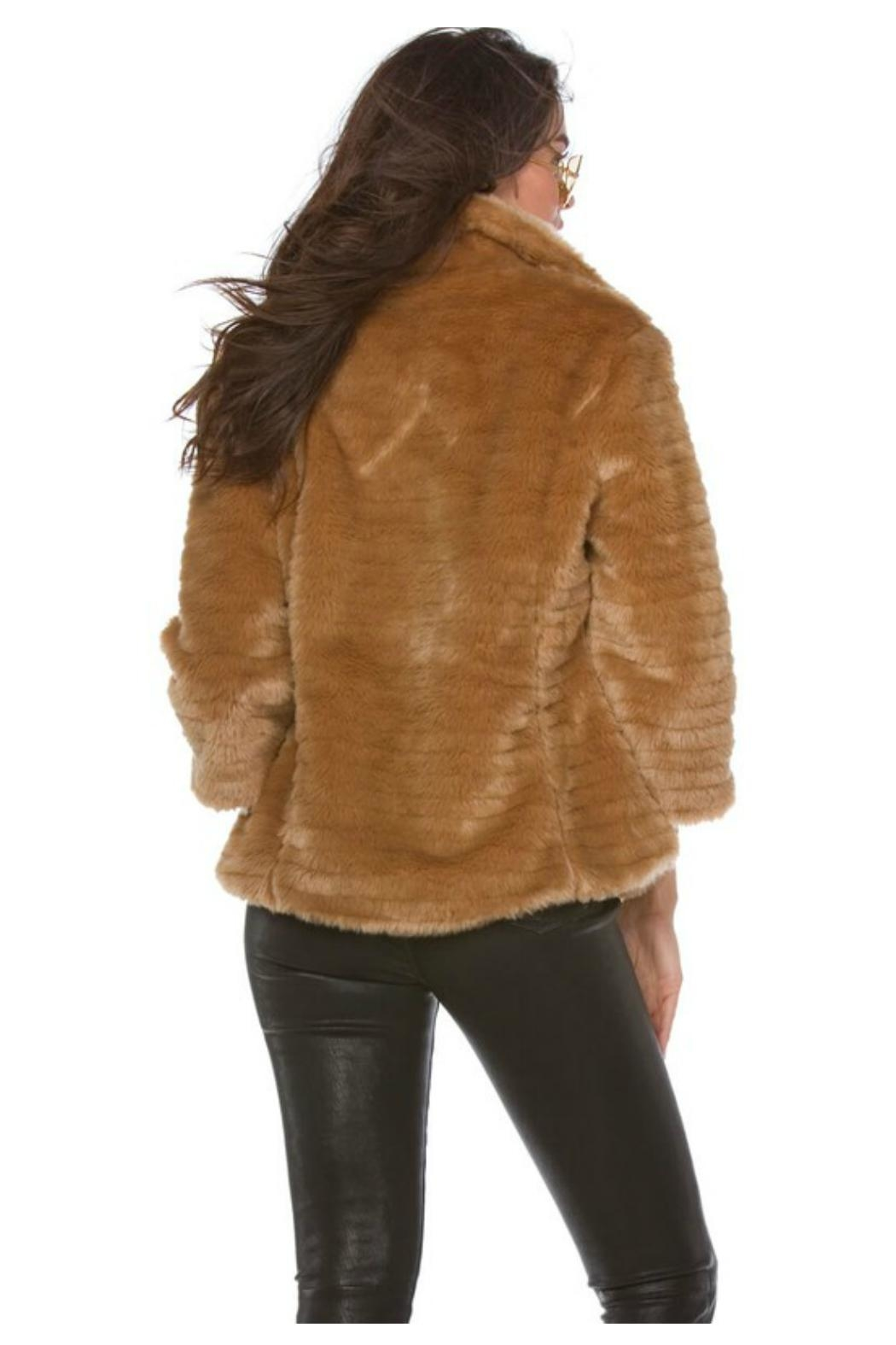 Towne Fitted Fur Jacket - Front Full Image