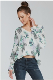 Towne Floral Crossfront Blouse - Product Mini Image