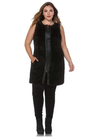 Towne Fur Leather Vest - Front full body