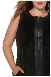 Towne Fur Leather Vest - Side cropped