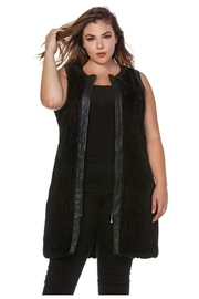 Towne Fur Leather Vest - Front cropped