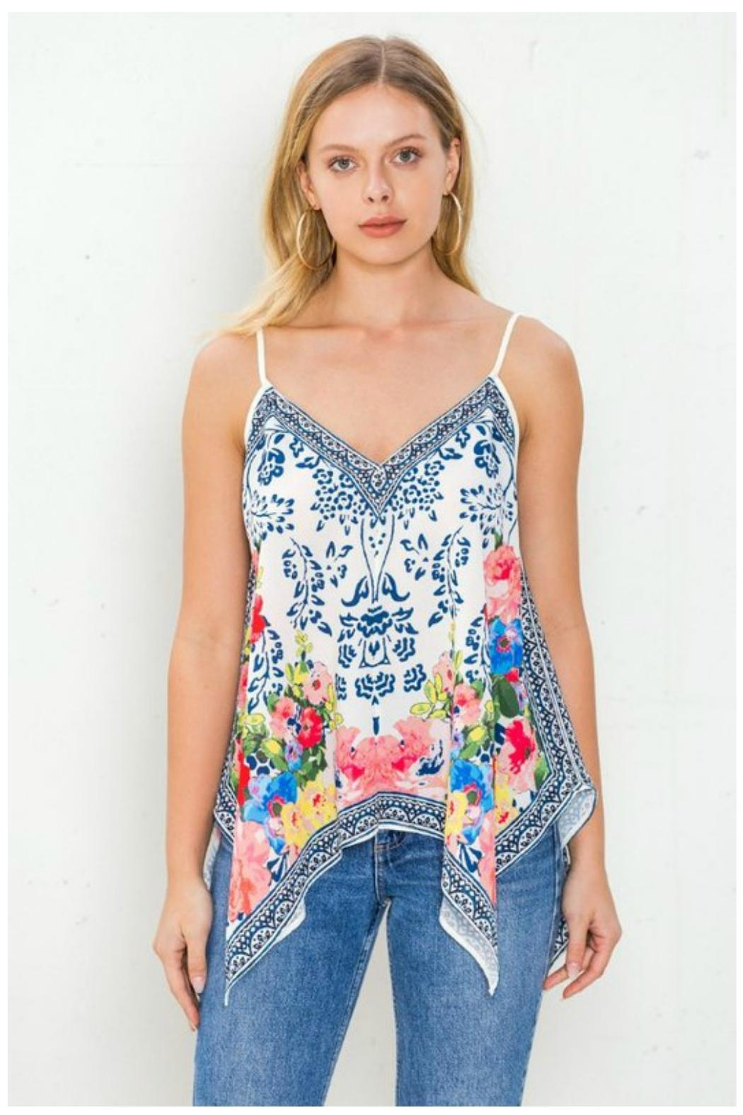 Towne Handkerchief Tank - Front Cropped Image