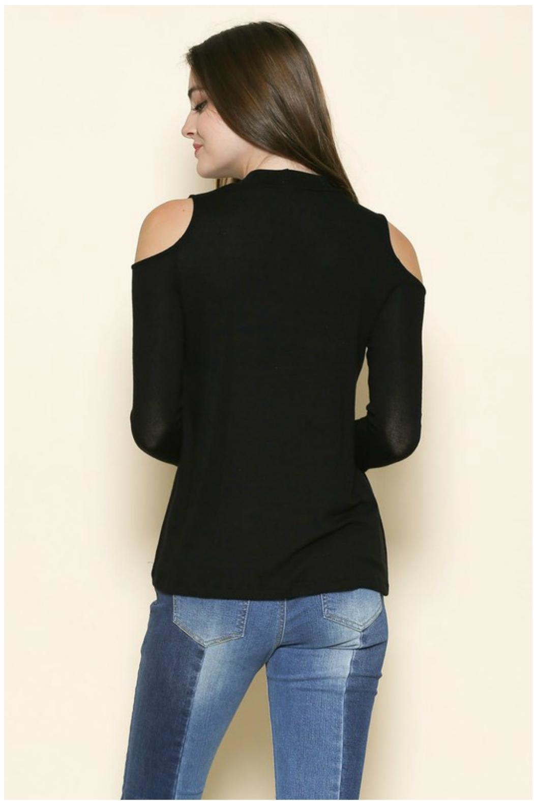 Towne Knit Keyhole Top - Front Full Image