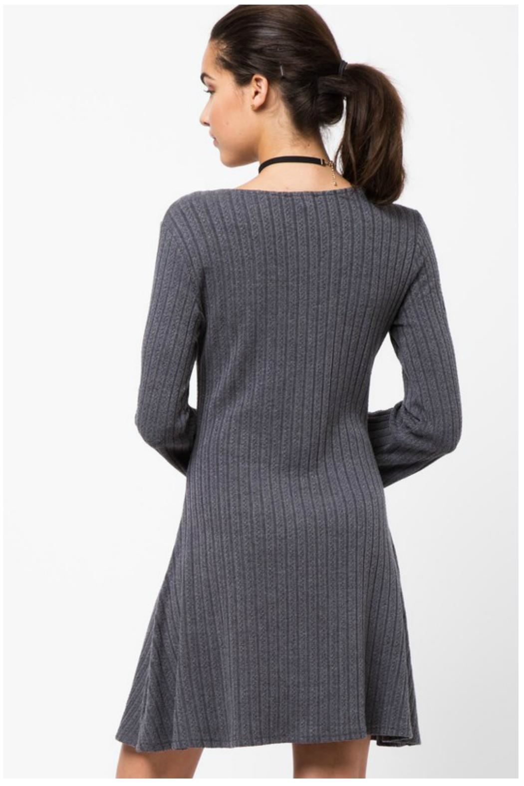 Towne Knit Sweater Dress - Front Full Image