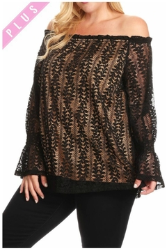 Towne Lace Overlay Blouse - Alternate List Image