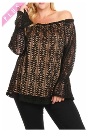 Towne Lace Overlay Blouse - Product Mini Image