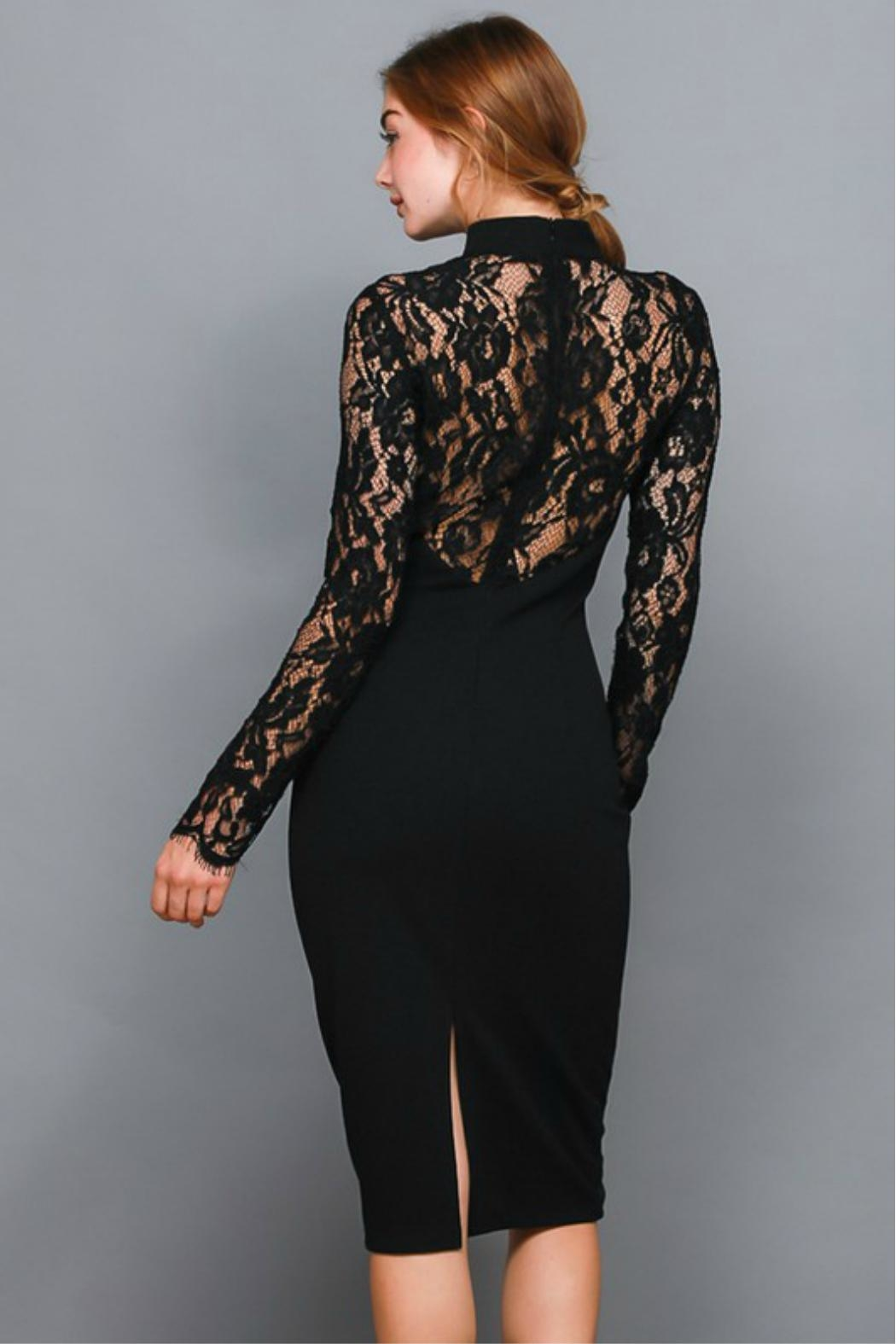 Towne Lace Sleeve Dress - Front Full Image