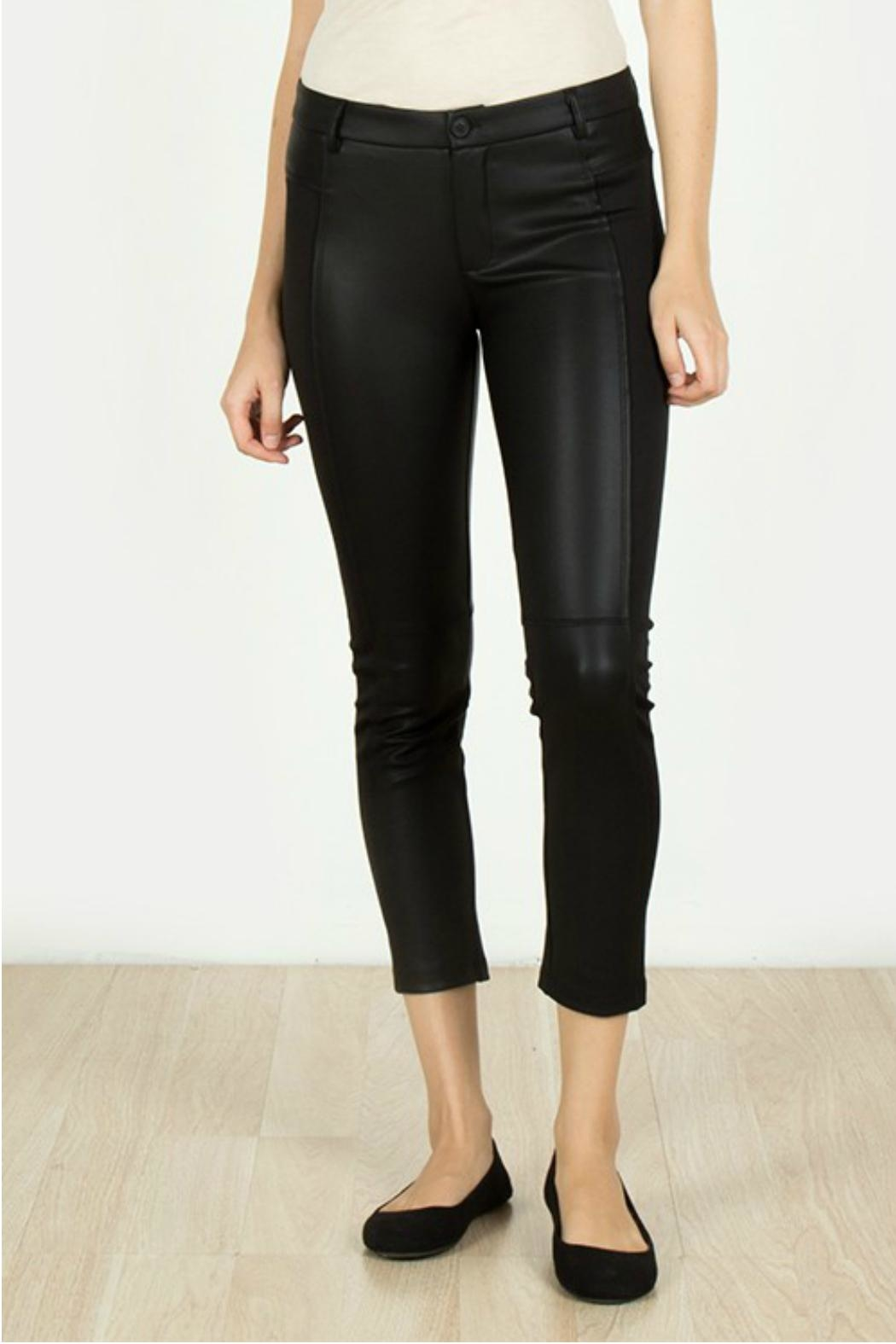 Towne Leather Knit Capri - Front Cropped Image