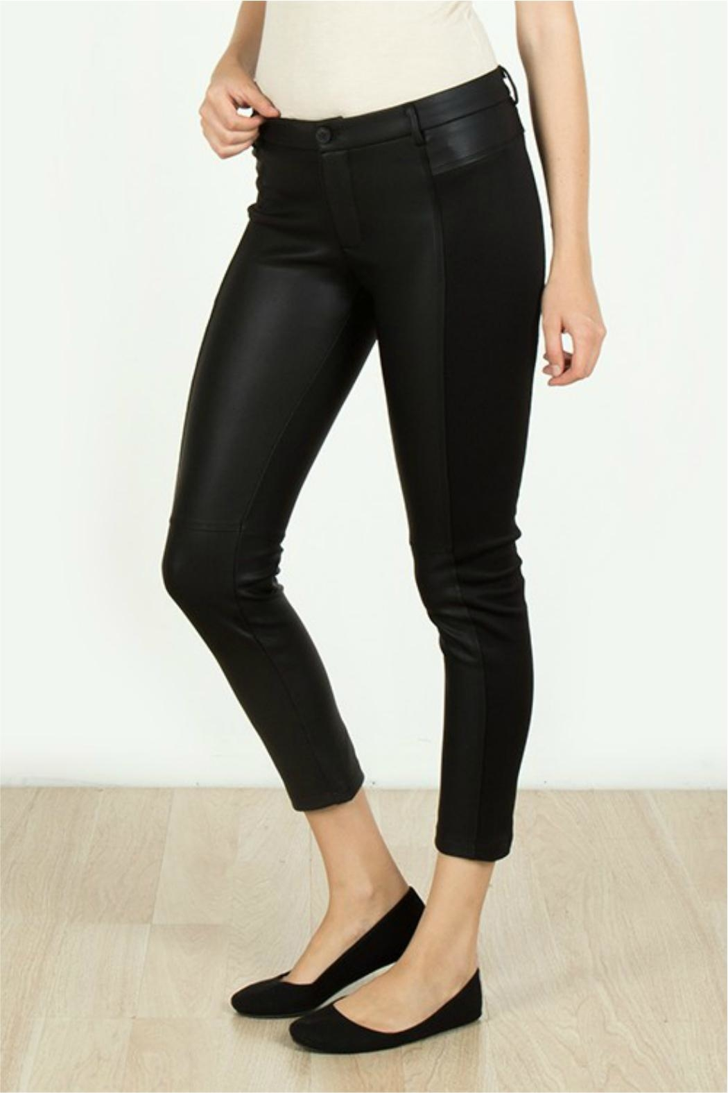 Towne Leather Knit Capri - Front Full Image