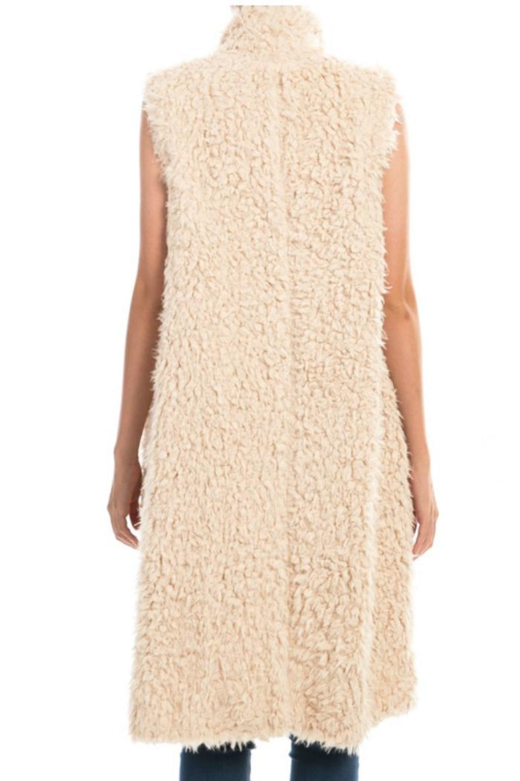 Towne Long Furry Vest - Side Cropped Image