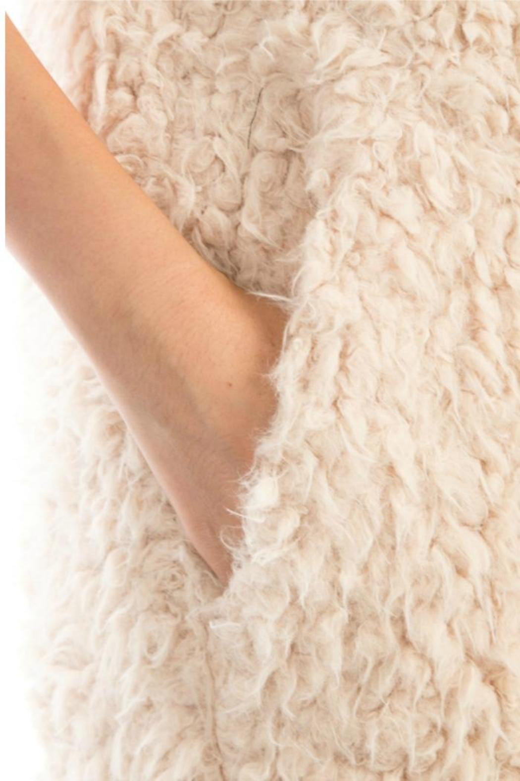 Towne Long Furry Vest - Back Cropped Image