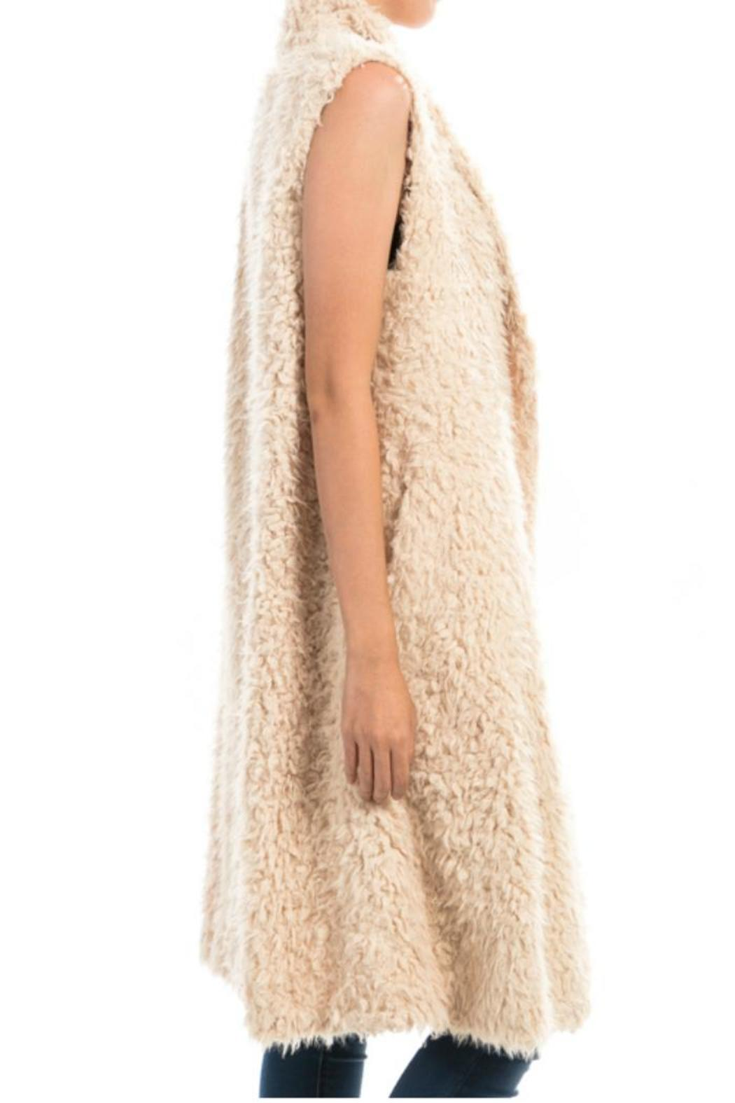 Towne Long Furry Vest - Front Full Image