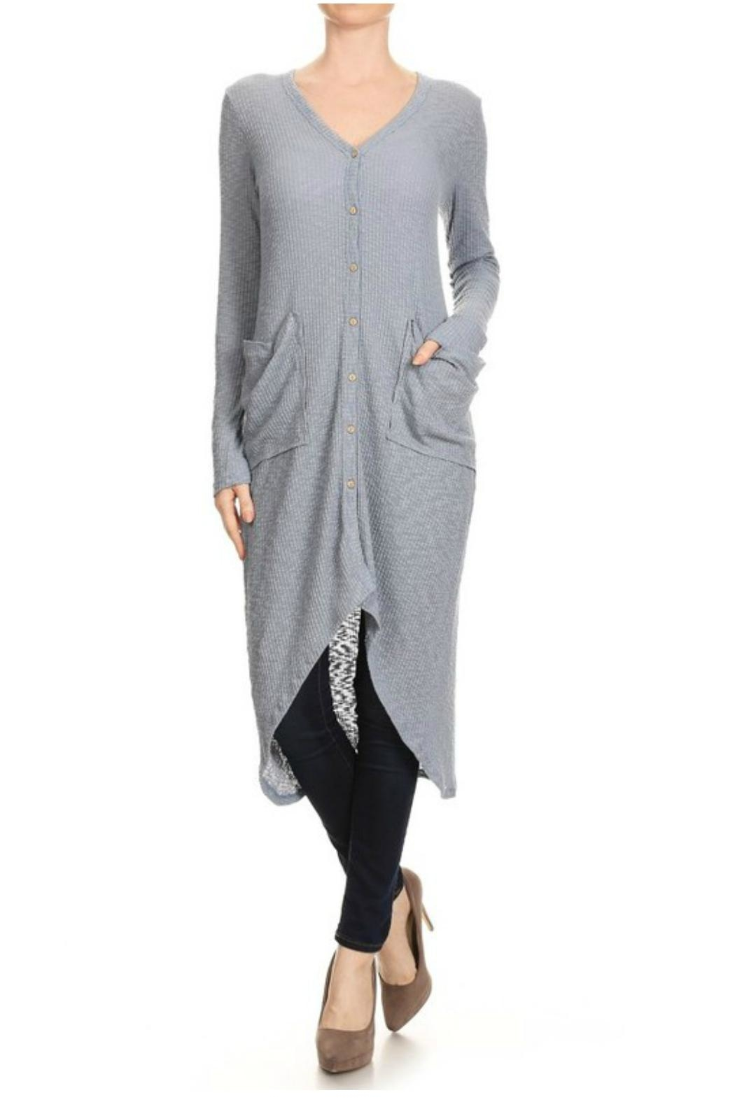 Towne Maxi Cardigan - Front Cropped Image