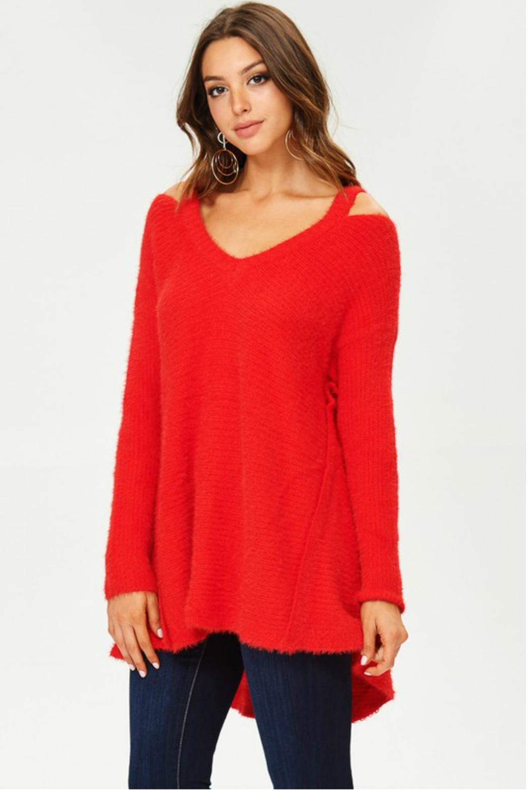 Towne Mohair Cold Shoulder - Main Image