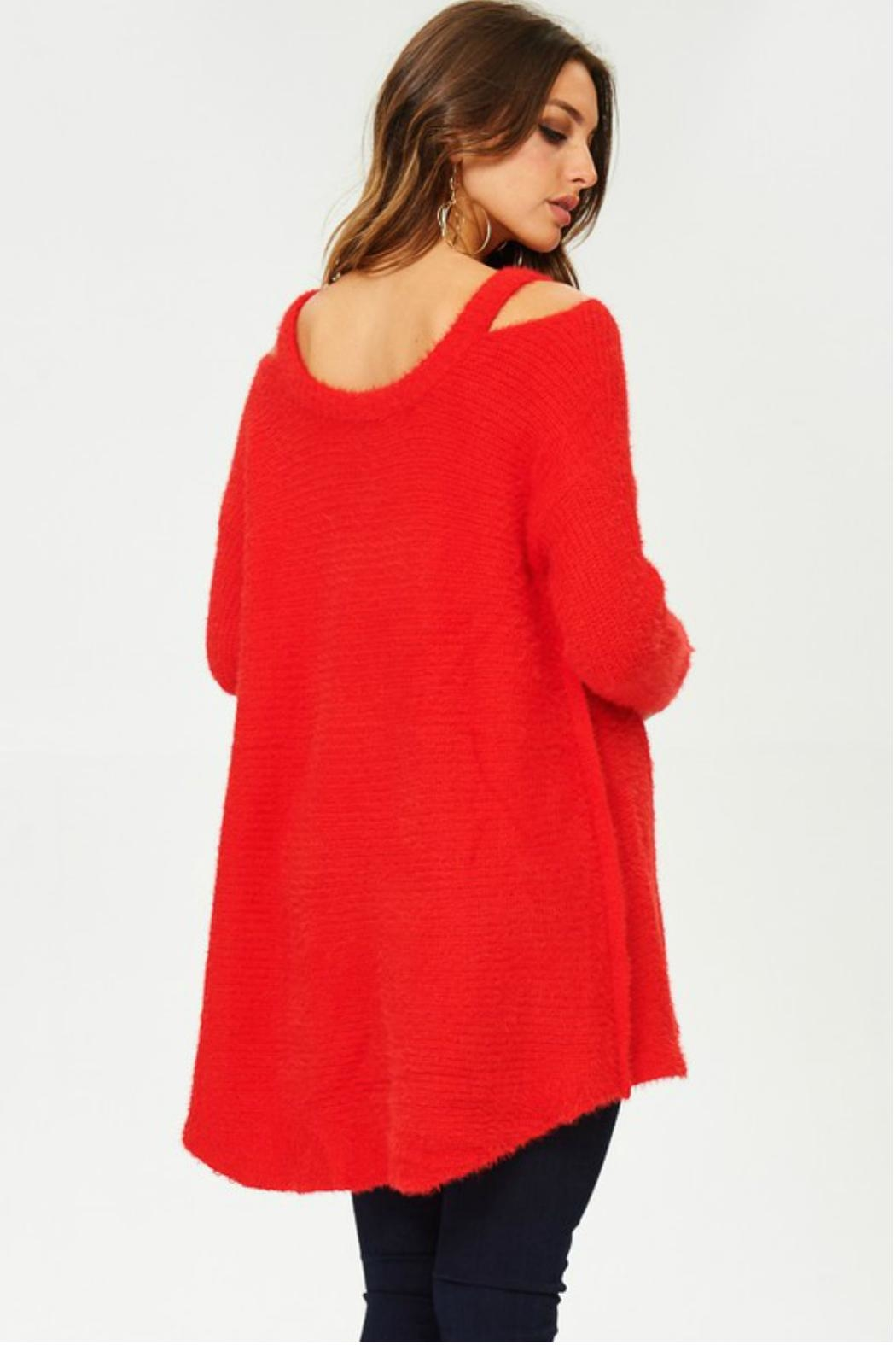 Towne Mohair Cold Shoulder - Side Cropped Image
