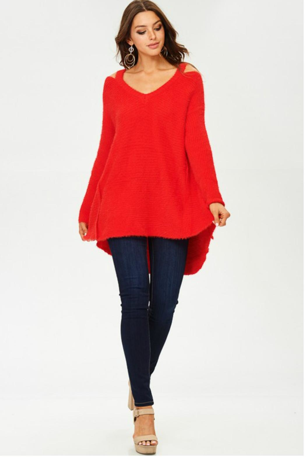 Towne Mohair Cold Shoulder - Front Full Image