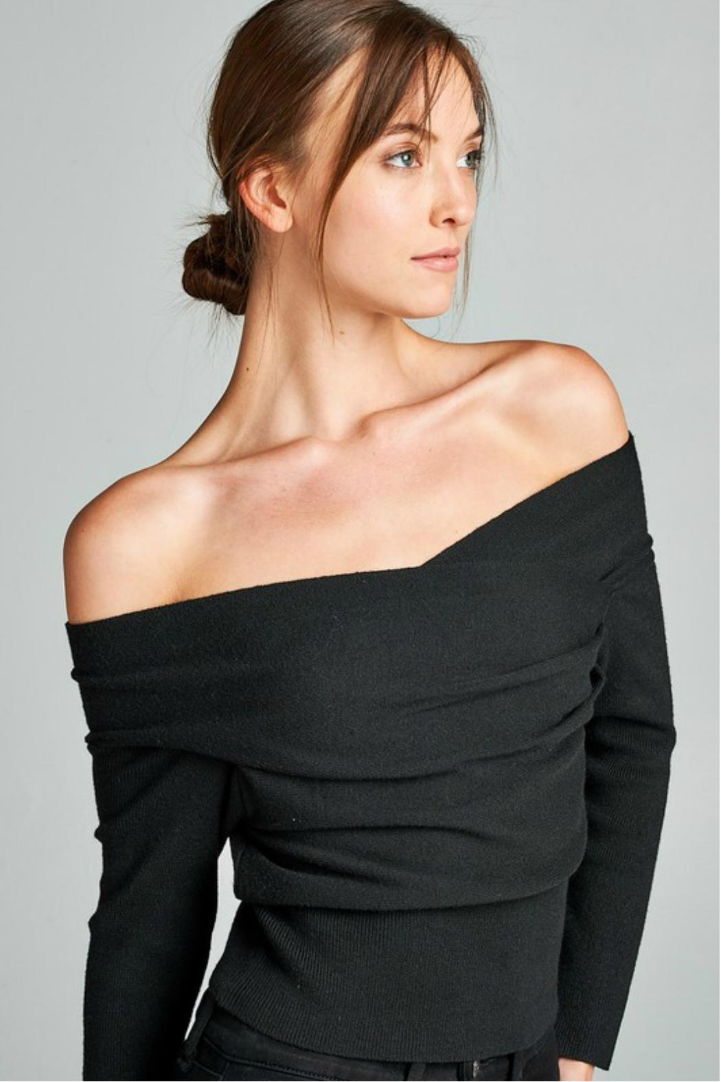 Towne Off Shoulder Sweater - Main Image