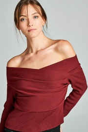 Towne Off Shoulder Sweater - Front cropped