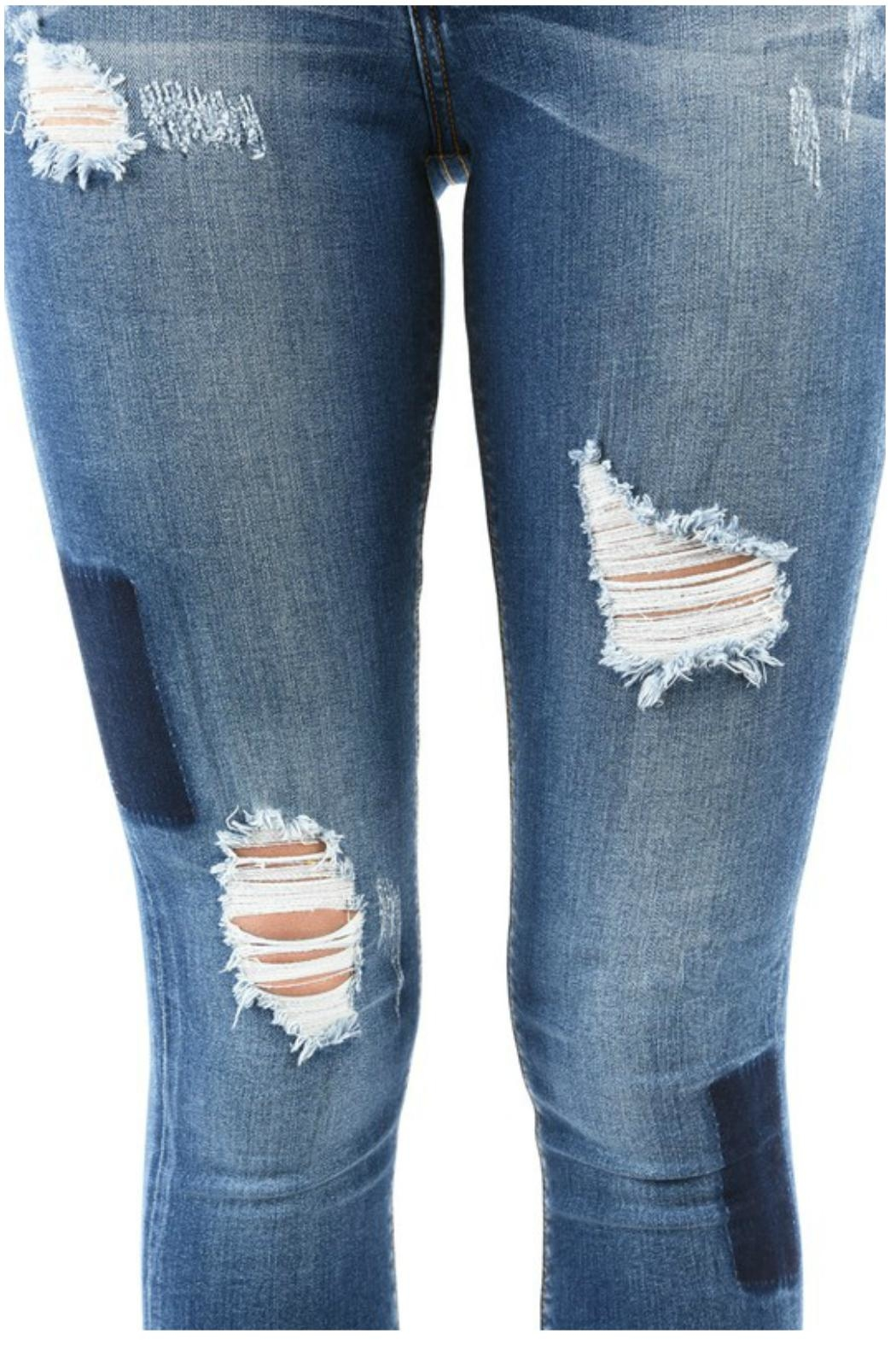 Towne Patchwork Jean - Front Full Image