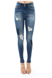 Towne Patchwork Jean - Front cropped