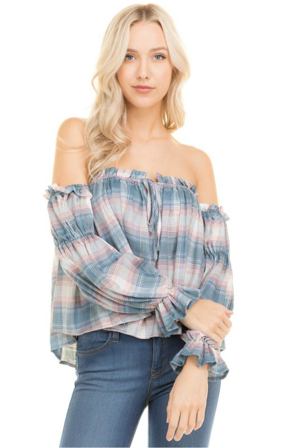 Towne Plaid Off Shoulder - Main Image
