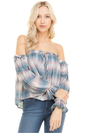 Towne Plaid Off Shoulder - Front cropped