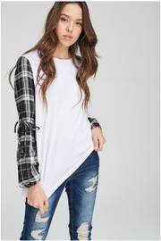 Towne Plaid Sleeve Tee - Product Mini Image