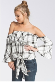 Towne Plaid Tiefront Top - Product Mini Image