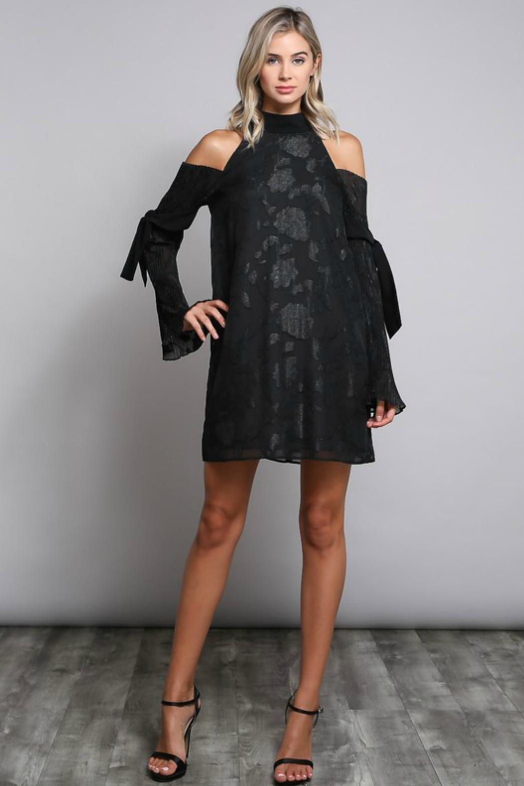 Towne Pleat Sleeve Dress - Front Full Image