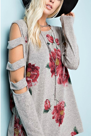 Towne Print Cutout Top - Front cropped
