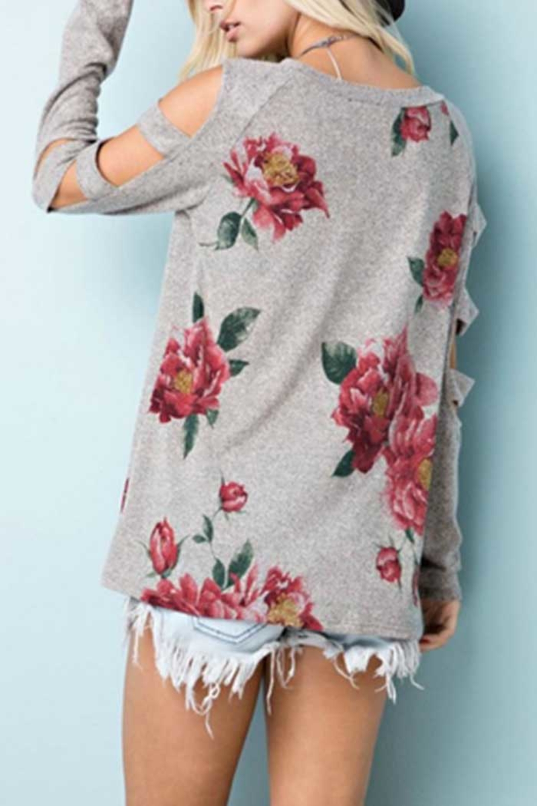 Towne Print Cutout Top - Side Cropped Image