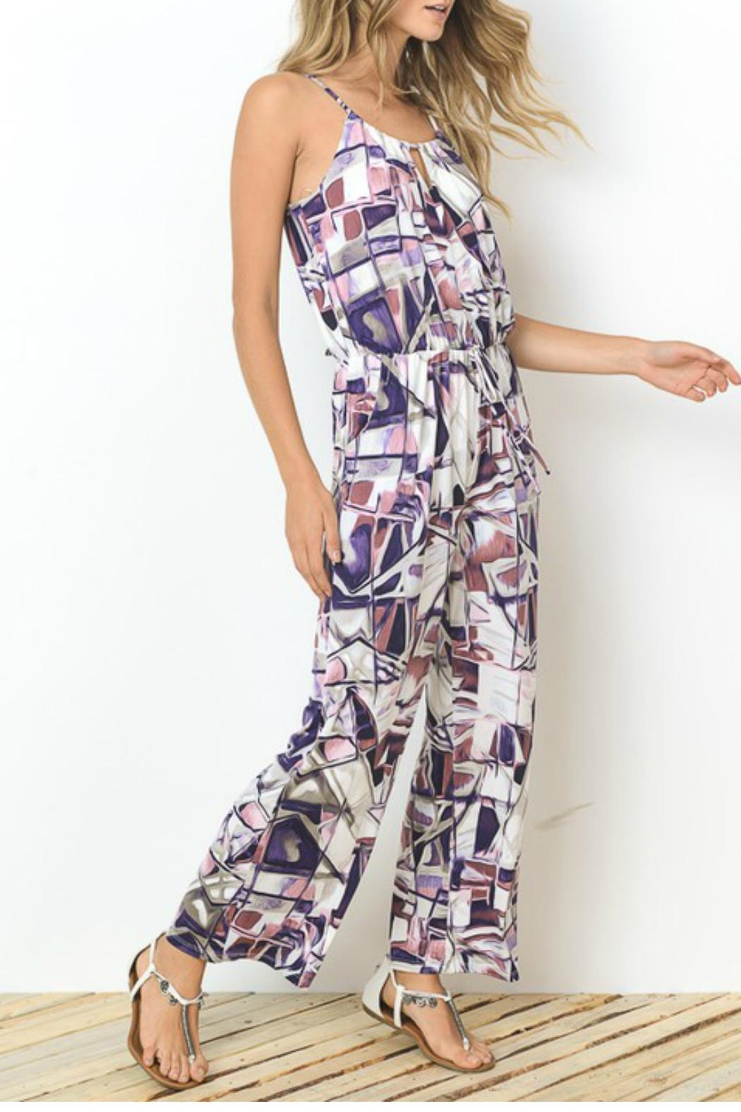 Towne Isadora Printed Jumpsuit - Front Full Image