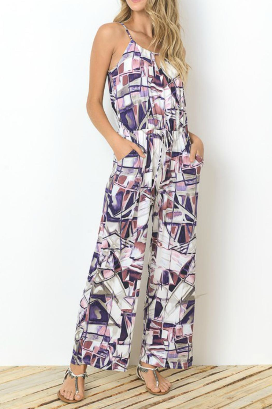 Towne Isadora Printed Jumpsuit - Front Cropped Image