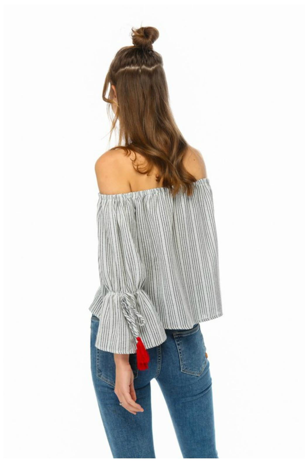 Towne Red Tassle Top - Side Cropped Image