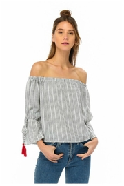 Towne Red Tassle Top - Front full body