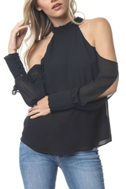 Towne Ruffled Mockneck Blouse - Product Mini Image