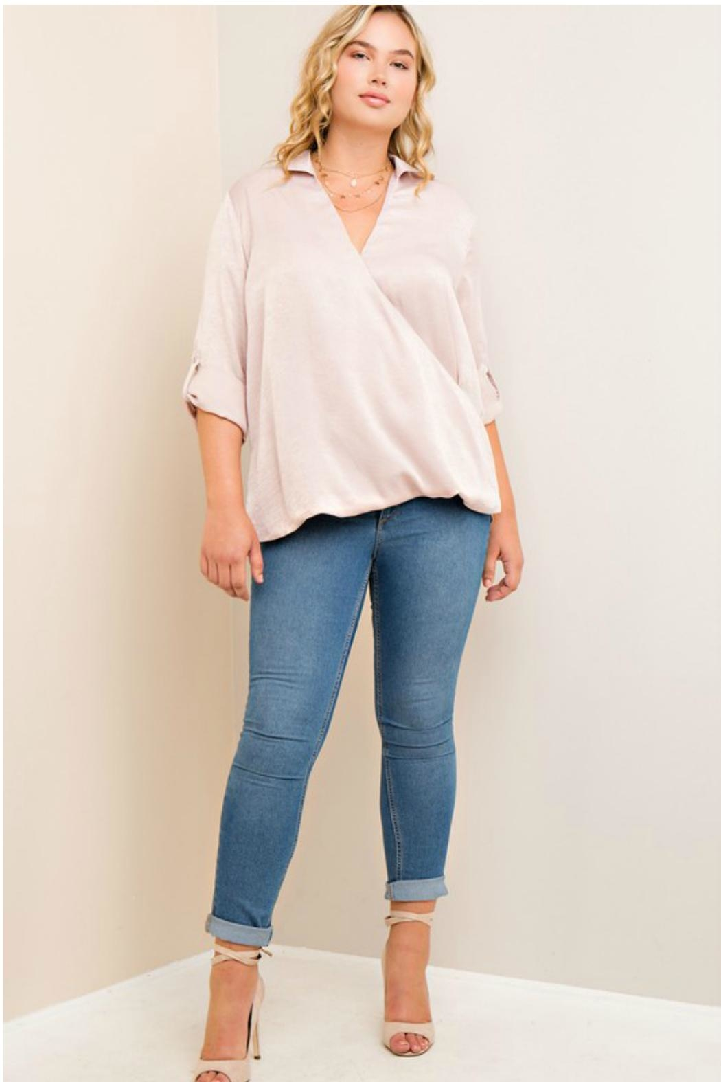 Towne Satin Blouse - Side Cropped Image