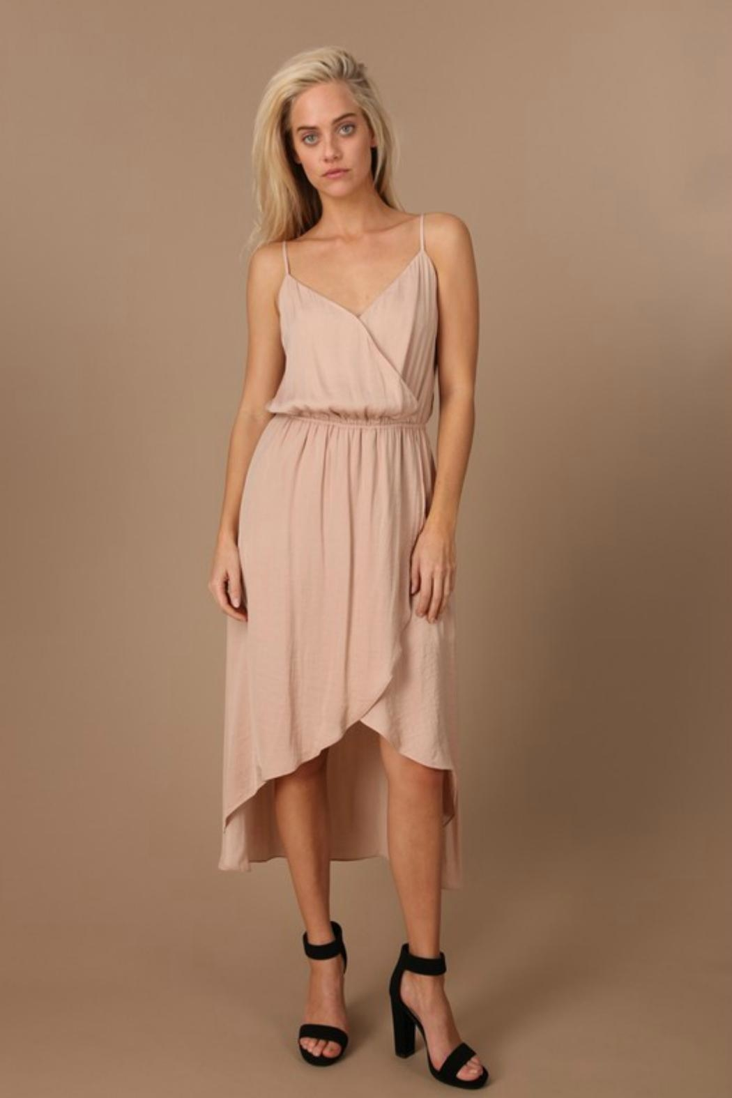 Towne Satin Midi Dress - Front Cropped Image