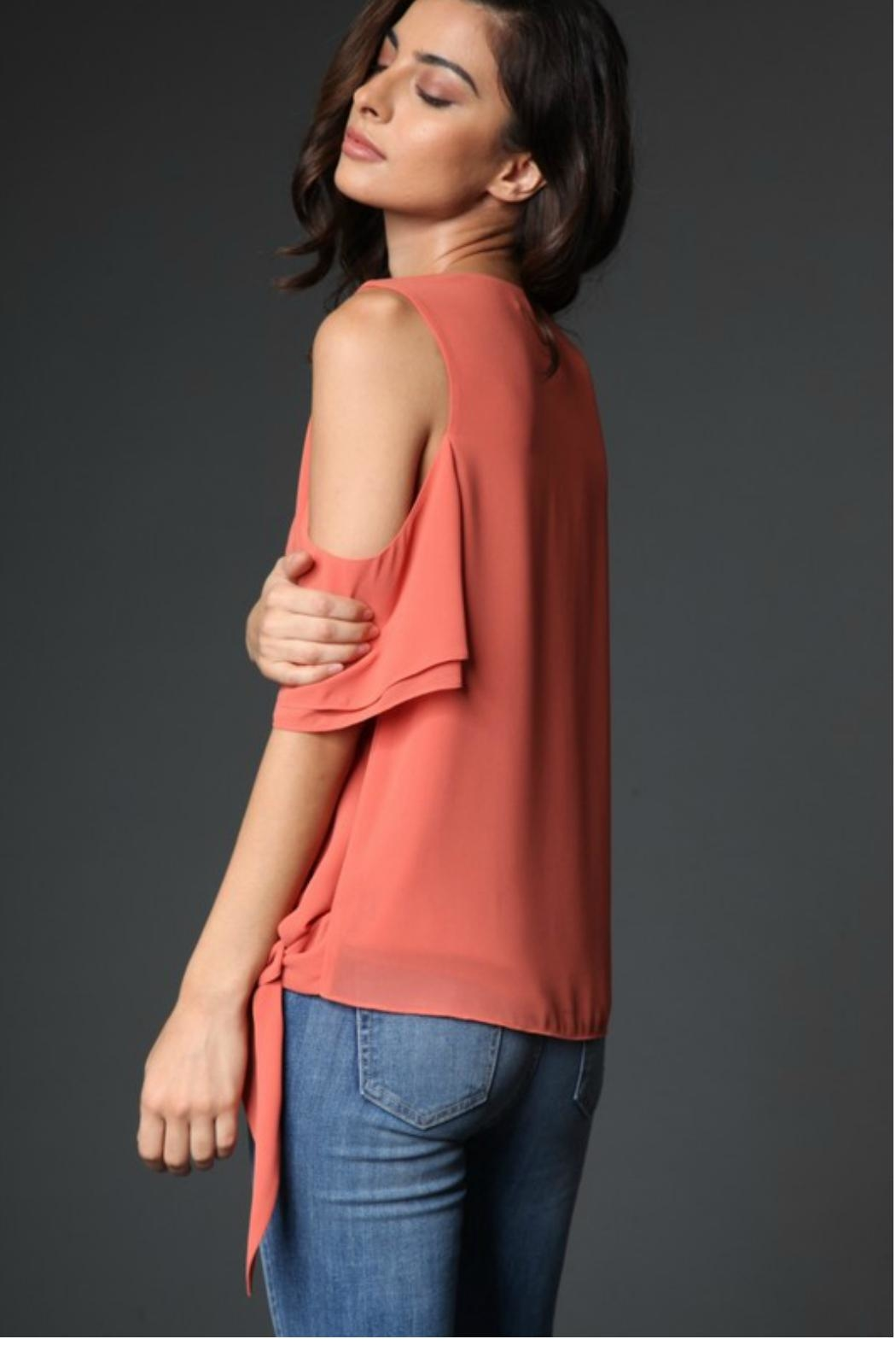 Towne Side Tie Top - Side Cropped Image