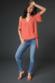 Towne Side Tie Top - Front full body