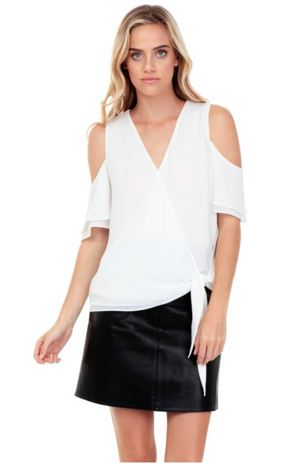 Towne Side Tie Top - Front Cropped Image
