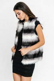Towne Striped Fur Vest - Front full body