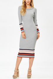 Towne Striped Midi Dress - Front cropped