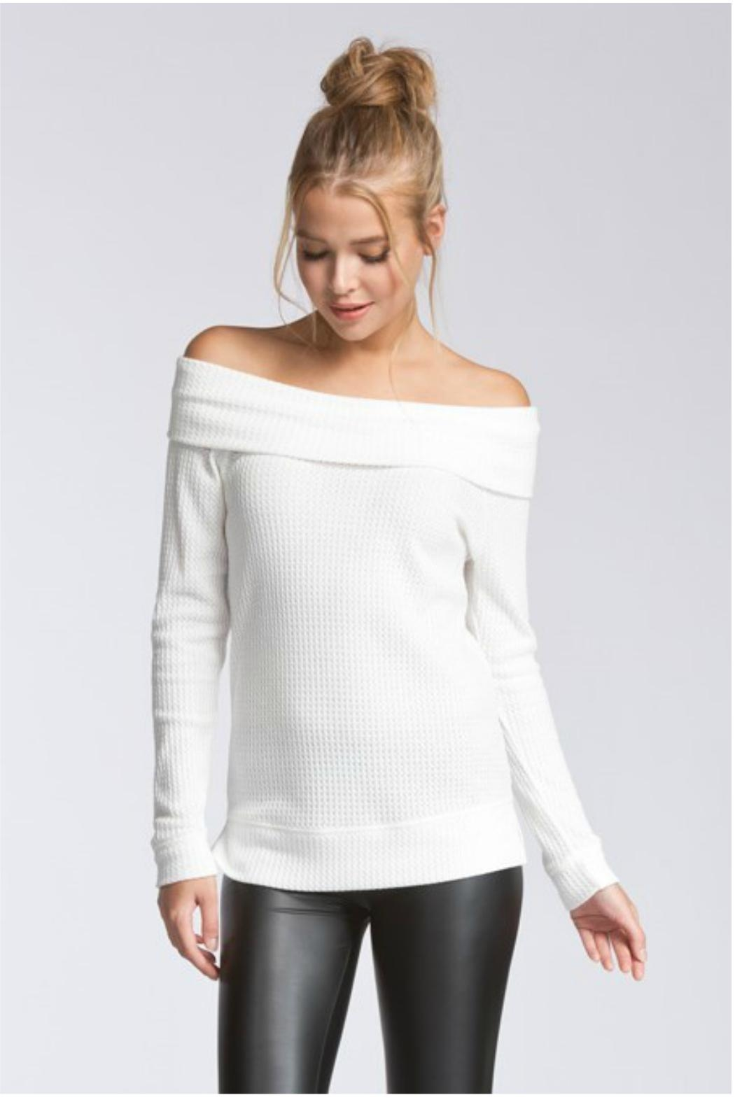 Towne Thermal Off Shoulder - Front Cropped Image