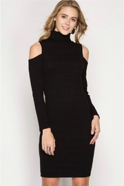 Towne Turtleneck Ribbed Dress - Front cropped