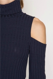 Towne Turtleneck Ribbed Dress - Front full body