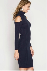 Towne Turtleneck Ribbed Dress - Product Mini Image