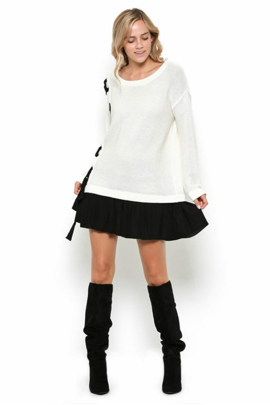 Towne Two Tone Dress - Front Full Image